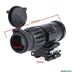 Tactical 3X Magnifier Rifle Scope Sight with Flip to Side 20mm Picatinny Weaver Rail Fits Outdoor Hunting Sight