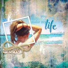 layout using Sea Sun Collection Biggie by florju designs