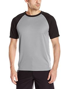 Introducing Teal Cove Mens Baseball Short Sleeve Swim Tee with 20 Upf Protection SlateBlack Medium. Grab Your Swimsuits Here and follow us for more updates!