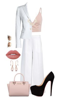 """""""Untitled #19"""" by madcstyles ❤ liked on Polyvore featuring Joseph, Canvas by Lands' End, Michael Kors, Lime Crime, Charlotte Russe and Gucci"""