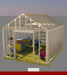 Storage Shed Building Plans, Gable Shed plans - Build your perfect workshop shed using these gable shed plans. Shed Building Plans, Diy Shed Plans, Building Ideas, Building Design, Small Shed Plans, Shed Plans 12x16, House Building, Storage Shed Kits, Storage Ideas