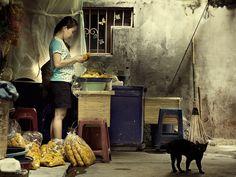A scene at the fringe of a market in Bangkok, Thailand. Michiel de Lange