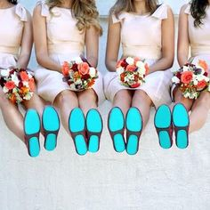 "A ""Something Blue"" that's perfect for walking gracefully down the aisle and dancing the night away! 