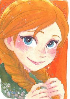 Anna #disney #frozen #fanart
