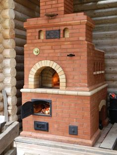 Русская печь с плитой с.М.Тополёвка 1 Bread Oven, Stove Oven, Summer Kitchen, Barbecues, Stoves, Outdoor Living, Brick, Bbq, Backyard