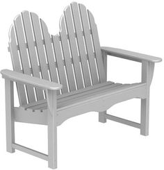 The Poly-Wood Classic Adirondack enchances every outdoor setting with its durability and beautiful simplicity. The straight-slatted back of this classic Adirondack leans just far enough and combines nicely with the deep seat to create a body-cradling experience that'll make you relish your leisure time. The easy-care Poly-Wood Adirondack Bench is available in 6 color variations to suit your taste, style and decor.