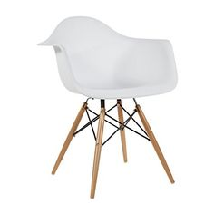 Charles U0026 Ray Eames Style Style DAW Eiffel Dining Lounge Chair (White)