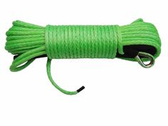 "Green 1/4""*80ft Replacement Synthetic Rope for Winch,ATV Winch Cable,Off Road Rope,ATV Winch Line"