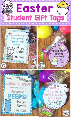 Printable easter gift tags and gift wrap from easter wraps and gift easter student gift tags 8 editable designs negle