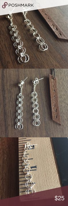 Round Sterling silver earrings Solid Sterling silver 925, shop with confidence Jewelry Earrings