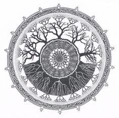 Tree of life mandala tattoo circles 49 ideas for 2019 Arm Tattoo, Mandala Tattoo, Compass Tattoo, Tattoo Tree, Celtic Mandala, Celtic Tree, Mandalas Painting, Mandalas Drawing, Granny Squares