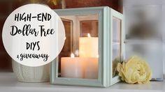 HIGH-END DOLLAR TREE DIYS | Lantern, Succulent Bowls, Pedestal