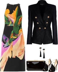SevenRoses: Josh Goot, Orchid Morph Print Silk Satin Dress