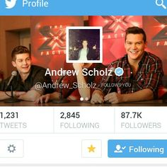 Andrew Scholz of the band Restless Road from xfactor