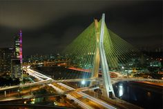 Octavio Frias de Oliveira Bridge: This mammoth, x-shaped, cable-stayed bridge was completed in 2008 over the Pinheiros River in São Paulo. The peak of its pylon is 452 feet high, while the bridge's total length is just shy of a mile. It's Innovative because the most noticeable attribute of the bridge is how its two levels of traffic cross one another as they pass through the pylon. A series of 144 steel cables were used to support the structure. Brazil spared no expense on this masterpiece…