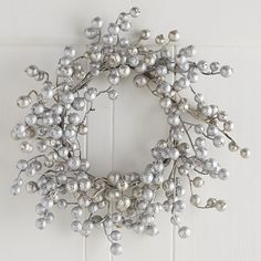 Glitter Berry Mini Wreath - Silver | Pier 1 Imports
