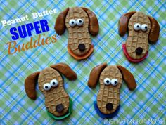 Inspiration For Moms: Peanut Butter Super Buddies - adorable doggy cookies!