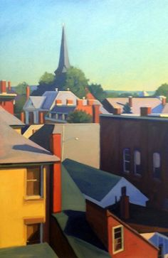 """""""Concord Rooftops I"""" by Melissa Anne Miller, (oil on canvas, 24 x 36, $3900)"""