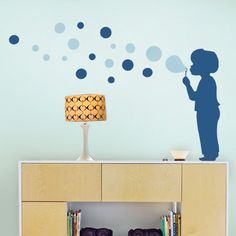 Bubble Boy Decal Children's Vinyl Wall Sticker by SimpleShapes