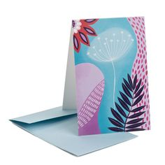 Art greeting card designed by Anita Romeo for Multifolia Atelier. http://www.multifolia.it/floral-greeting-card