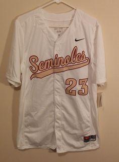 Florida State Seminols Mens Baseball Jersey Size Large Nike Dri-Fit #23 NCAA FSU #Nike #FloridaStateSeminoles