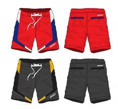 Set of sport shorts design. Kids Shorts, Sport Shorts, Man Shorts, B Fashion, Sport Fashion, Running Man Logo, Aquaman Logo, Mens Cotton Shorts, Clothing Patterns