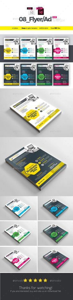 Corporate Flyer / Ad Template InDesign INDD