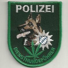 K-9 DienstHundeführer Patch BAYERN RAUSCHGIFT Polizei Abzeichen München MALINOIS