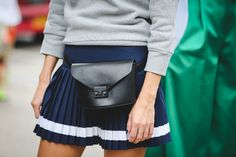 42 Must-Have Bags Seen At New York Fashion Week #refinery29 http://www.refinery29.com/2015/09/94190/cute-handbags-fashion-week-street-style#slide-12 The fanny pack revival has officially commenced.Loeffler Randall fanny pack....