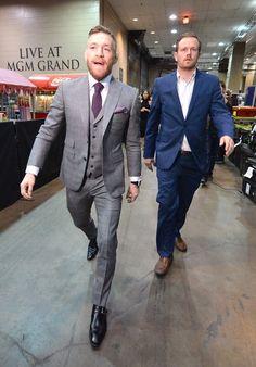 UFC champ Conor McGregor playboy life revealed after Nate Diaz is part of Mcgregor suits - Conor Mcgregor Suit, Mcgregor Suits, Notorious Conor Mcgregor, Connor Mcgregor, Nate Diaz, Ufc, Playboy, Dapper Suits, Blue Suit Men
