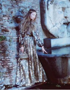 """""""Life as a Fairy Tale"""" Kid Plotnikova for Vogue Japan September 2014 by Laura Sciacovelli #Rome"""