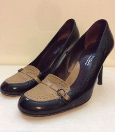 Via Spiga Black Khaki Heels 7.5 M | eBay