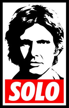 Obey Han Solo (solo text version) - Star Wars Art Print by Yiannis