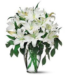 Perfect White Lilies  Item TF24-1