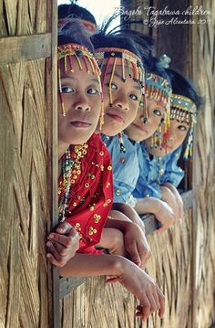PHILIPPINES: Children of Bagobo-Tagabawa tribe in the highlands of Tibolo Village in Sta. Cruz.