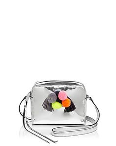 $Rebecca Minkoff Sofia Pom Pom Metallic Mini Crossbody - Bloomingdale's