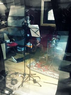 Lou got stuck inside the recording booth. Nice Lou.