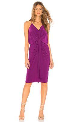 Shop for MISA Los Angeles Domino Midi Dress in Magenta at REVOLVE. Purple Wedding Guest Dresses, Wedding Guest Looks, Purple Dress, Green Dress, Nice Dresses, Wrap Dress, Cold Shoulder Dress, My Style, Black Tie