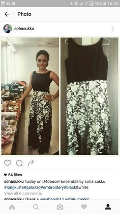 #Black and white #soha sukku #ensemble