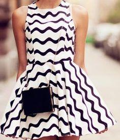Vestido blando con ondas, que bien se ve :)