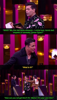 """And when Akshay proved to be really bad at Bollywood trivia. Like, really really bad. 17 WTF Moments From Ranveer And Akshay's Hyper Energetic Episode Of """"Koffee With Karan"""" Latest Funny Jokes, Funny School Jokes, School Humor, Ranveer Singh, Akshay Kumar, Best Love Proposal, Bollywood Memes, Bollywood Style, Koffee With Karan"""