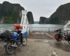 Ferry from Halong Bay to Cat Ba Island. Crazy views... by teagueobrien