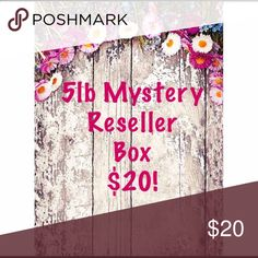 Mystery Reseller 5lb Box! Only a few left!! I need to get rid of my inventory. This box included anything from shirts, pants, skirts, shorts, dresses, accessories, etc. it will be different brands as well as different sizes and from different seasons. I will fill a box up as close to 5lbs of clothes so i don't have to pay extra for shipping. My loss is your gain! This is a great deal!   This cannot be bundled and no offers or returns. Final sale. This is great if you are starting out or…