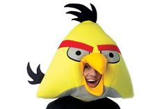 Yellow Bird - Angry Birds Plush Adult Mask