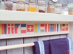 Kitchen Shelf Spice Rack Cross Stitch Decor by stedi on Etsy