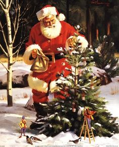 Santa Claus Posters and Art Prints - Christmas Pictures Christmas Scenes, Father Christmas, Santa Christmas, Christmas Pictures, Winter Christmas, Christmas Holidays, Xmas, Santa Pictures, Santa Claus Is Coming To Town