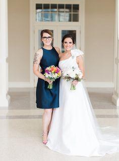 Sister wedding shot. Whitney Wysong Photography