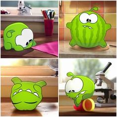 Om Nom can do some amazing things... breakdance, swallow an entire watermelon and perform magic tricks.