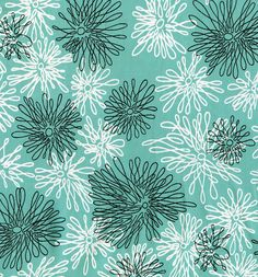 Floral print on silk. Unknown manufacturer. 1930s-1940s. Via the design center