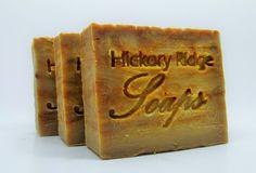 Handmade Pumpkin Crunch Cake Soap by Hickory Ridge Soaps at www.hickoryridgesoaps.com.  A seasonal favorite!